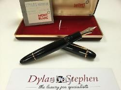 Montblanc meisterstuck 149 fountain pen 18C F= fine gold nib (new old stock)
