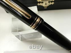 Montblanc meisterstuck 149 fountain pen 18K B= broad gold nib + boxes + ink