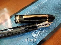 Montblanc meisterstuck 149 fountain pen 18K EF= extra fine gold nib + box