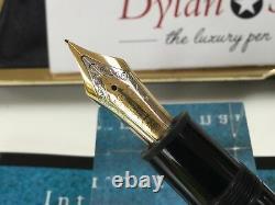 Montblanc meisterstuck 149 fountain pen 18K M = medium gold nib + box