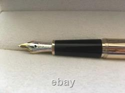 NEW FOUNTAIN PEN MONTBLANC Meisterstuck Goldplated Gold Citrine 144 B Broad Nib