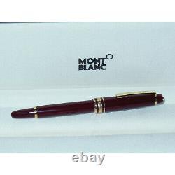 NOS Montblanc Meisterstuck 114R Mozart Fountain Pen Bordeaux Red/Gold 14K M Nib