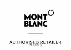 New Authentic Montblanc Meisterstuck Rollerball Black Gold Trim 163 12890 pen