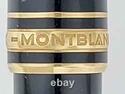 Used MONTBLANC Meisterstuck Black Gold Trim Classique164 Ballpoint Pen Authentic