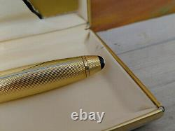 Vintage MONTBLANC Meisterstuck Solitaire Barley Gold Plated 146 Fountain Pen