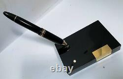 Vintage MontBlanc Meisterstuck 149 Fountain Pen 14K Gold Nib holder Desk Set