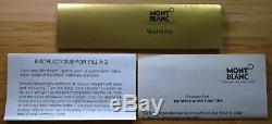 Vintage MontBlanc Meisterstuck 149 Fountain Pen 14K Nib 4810 Black & Gold Trim