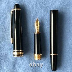 Vintage Montblanc Meisterstuck 144 Fountain Pen 585 Gold 14K Nib M