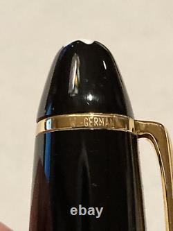 Vintage Montblanc Meisterstuck 146 Fountain Pen 14kt Gold Nib With Original Box