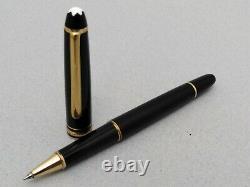 Vintage Montblanc Meisterstuck Classique Pix (163) Black Gold Trim Roller Pen
