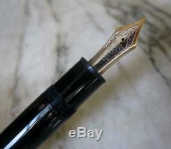 Vintage Scarce Montblanc Meisterstuck 149 Solid Gold Two Tones 14 C Nib F Pen
